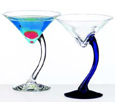 Swank Swerve Martini Glasses.
